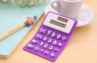 Wholesale South Korea stationery portable soft keyboard office study solar silica gel mini calculator