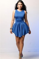 Wholesale Female Dress club wear Casual Women Party Dress Fashion Scoop neck Micro Fiber Slim Lady Strap Dress