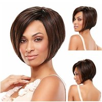 best black skin - The best cheap classic top quality synthetic bob wigs black blonde burgundy with skin for africa american woman