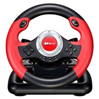 steering wheel for pc game - Black Star shine PC PC racing game steering wheel Need for Speed simulation to learn to drive Plug and play