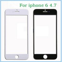 Wholesale For iPhone quot Plus quot Front Outer Touch Screen Glass Lens Panel Screen Replacement Black White DHL
