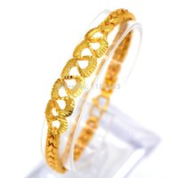 Wholesale luxury Chain Bracelets Fashion Jewelry gifts K Real Gold Plated Classic Design Trendy Unisex Bracelets Bangles B40153