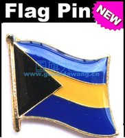 bahamas flag - Bahamas Metal Flag Badge Flag Pin
