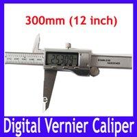 Wholesale EMS LCD stainless stell inch mm digital vernier caliper CALIPER VERNIER GAUGE MICROMETER