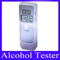 Wholesale Portable mini breathalyzer Tester with LCD clock