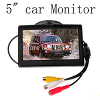 Wholesale HD Car TFT LCD Monitor inch Car monitor Electronic Screen ch Video with Car Rearview Cameras Equipment A3