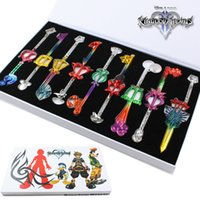 Wholesale Colorful Kingdom Hearts Cosplay Pendant Sora Keyblade Keychain cm set