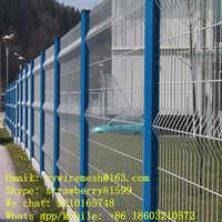 Wholesale Community Wire Mesh Fence With Unique Shape Blue Peach Fence Post White Fence Panel Bright Color