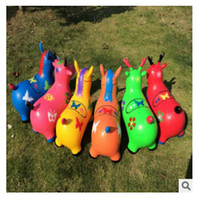 baby ride ons - 2015 high quality Fashion Children cartoon Jumping Animal Riding Toy Thicken Explosion proof Inflatable Child Baby Ride Ons
