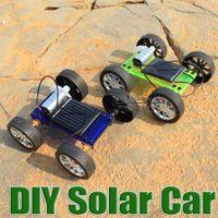 Wholesale DIY solar toy car assemble solar vehicle yourself mini solar energy powdered toy racer child kid solar car Education kit