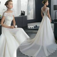 Cheap lace wedding dresses Best chiffon bridal dress