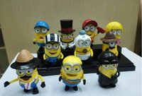 anniversary dolls - 1set Despicable Me hand do bags Action Figures PVC toys Movie Character Figures Despicable Me minions office Toys Doll