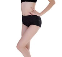 slimming pants shaper - 2015 Women Padded Bottom Tummy Luxury lace Control Body Shaper XJ1077 Abundant buttocks pants Slim fake ass underwear fake hip