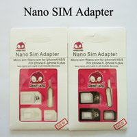 Wholesale Merry Bird In Nano Slim Card to Micro Standard Slim with SIM Card Pin SIM Adapter Eject Pin For iPhone Plus S S Retail Box