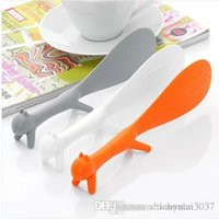 Wholesale Random Color Lovely Kitchen Supplies Squirrel Shaped Ladle Non Stick Rice Paddle Meal Spoon TY499 spoon cutlery set