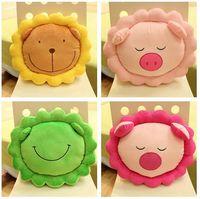 Cheap Animal cushion lumbar pillow green frog pink pig Yellow Lion cushion plush toy Home Decoration NN27