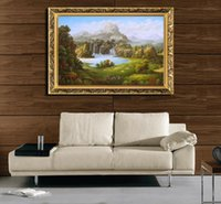 Wholesale 100 handpainted oil painting Classical painted landscapes christmas home decoration wall picture hot sale top fashion X70