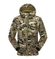 camouflage clothing - outdoors shark skin soft shell jacket men camouflage climbing hiking jackets Mountaineering clothing