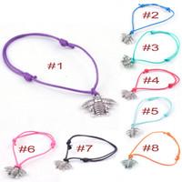 bees wax - Hot Alloy Bee Bracelets DIY Handmade jewelry Wax rope Bracelets