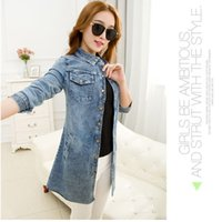 Cheap 2016 women's fashion casual white coat and blue jeans tailored suit jacket motorcycle jacket long casual jacket