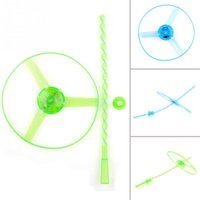 Wholesale Novelty Outdoor Spin Disk LED Light Toy Frisbees Boomerangs Flying Saucer Helicopter