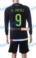 online store - Customized Mexico R JIMENEZ Home Black Soccer Jersey Mexico Cheap Football Long Shirts With Shorts Jersey Sets Online Sale Store