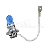 Remplacement H3 55W HeadLight lampe Xenon Bleu Foncé Auto Glass Halogen Light Bulb Super White