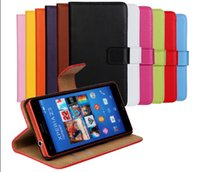 Cheap For Sony Ericsson Xperia Z3 case Best Leather  Z3 Compact mini case