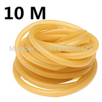 Wholesale 10 Meter x9mm Natural Latex Rubber Tube Tubing Band For Hunting Catapult Slingshot Elastic Part Fitness