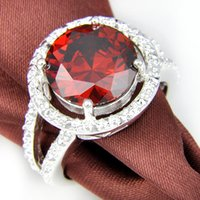 Solitaire Ring best cubic zirconia rings - silver fashion Mix size red heart ring best gift for lady R0608