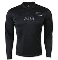 Wholesale 2015 world cup rugby new zealand all blacks thai quality Rugby long sleeve new zealand all blacks Rugby jerseys
