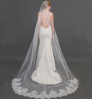 beautiful meter - 2016 New Arrival Beautiful Bridal Veils from Eifflebride with Embellished Lace Applique Edge About Meter Long Wedding Veils