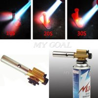 bbq ignition - New Gas Torch Butane Burner Auto Ignition Camping Welding Flamethrower BBQ Travel