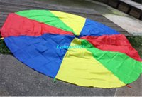 Cheap Multicolor Nylon New Kids Play Rainbow Parachute Outdoor Game Exerclse Sport 1.8m Suitable For 4-8 individuals