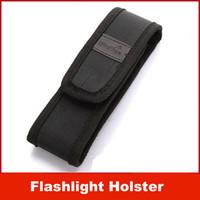 led flashlight pen - New Black Nylon Belt Holster Cover Pouch for UltraFire C8 E6 E17 A100 B B LED Flashlight Torch Laser Pen
