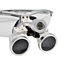 Wholesale Low Price X320mm Dentist Surgical Medical Binocular Dental Loupe Optical Glass with LED Head Light silver p9