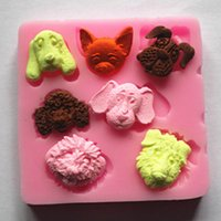 candy molds - 1 Cute Dogs Silicone Cake Fondant Mold Molds Fondant Cake Chocolate Candy DIY Moulds