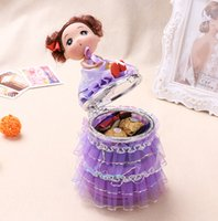 Cheap Favor Boxes Creative cute doll candy boxes Best Purple Porcelain candy boxes 2015