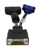 Wholesale High Quality Computer Cable DMS pin to one DVI Female one VGA Female Y Splitter Cable Video adapter