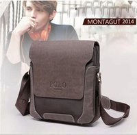 Wholesale 2014 Brand New Men Messenger Bags Genuine Leather POLO Bags laptop Briefcase Travel Bags Business Bags