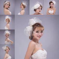 prom hair accessories - 8 Different Wedding Bridal Hair Accessories Netting with Crystal Charming Girls Tiaras Prom Party Head Pieces Wedding Bride Headband MG05