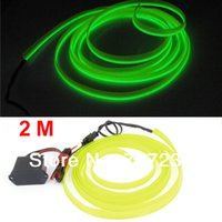 adorn dance - Party Adorn Cloth Hip Hop Dance Strip Decoration Cable EL Wire Yellowgreen Neon Flexible Glow Light Rope V