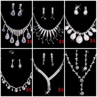 big feather earrings - 2016 Cheap Styles Necklace Earrings Rhinestone Big Crystal Bridal Accessories Bridesmaid Lady Women s Prom Party Wedding Jewelry Sets
