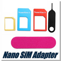 Wholesale For iphone s nano adapter convert nano sim card for iphone iphone s reduction card set with retail package