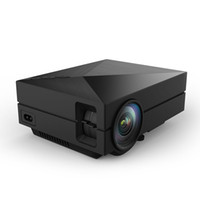 Wholesale GM60 Multimedia Mini LED Projector Lumen Private Cinema support HDMI VGA AV USB port enjoy Video Movie Game