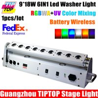 adjustable stage - TIPTOP W IN RGBWA UV Color Mixing Battery Wireless Led Washer Light Angle Adjustable Remote Stage Washer DMX512 CH China Light
