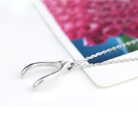 best korean drama - 2015 New arrival Hot sale best quality Women Fashion Korean Necklace Drama Wishbone Wish bone Couples Titanium Steel Hot Love
