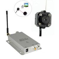 Wholesale Mini G CMOS TVL AV CCTV Wireless Home Security Surveillance Hidden Pinhole System Camera Kit Receiver Fransmitter order lt no track