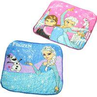 Wholesale New Arrival Hot Frozen Elsa Princess Olaf Cartoon Face Towel cm Blue Children Party Gift Frozen Handkerchief Frozen Towel frozen Baby bib