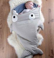 Cheap Wholesale INS Babys Sleeping Bags Clothes Baby Pajamas Cartoon Shark Animal Cotton Sleeping-bags Multi-function New Babys Sleeping Bag